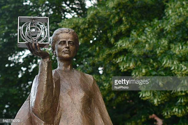 A view of the Marie Sklodowska Curie statue in Warsaw's Old Town Born Maria Salomea Sklodowska was a Polish and naturalizedFrench physicist and...