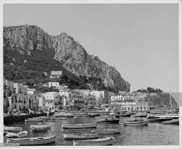 A view of the Marina Grande the harbor on the island of Capri at the foot of Mount Solaro southern Italy circa 19201960