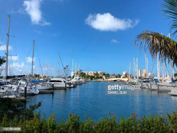 View of the marina of Mazatlan Sinaloa state Mexico on October 24 the day after the passage of Hurricane Willa Hurricane Willa crashed ashore in...
