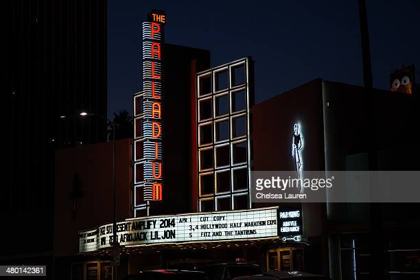 A view of the marquee at 971 AMP Radios' 2nd annual AMPLIFY concert at Hollywood Palladium on March 22 2014 in Hollywood California