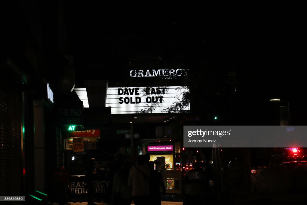 A view of the marquee at Gramercy Theatre on August 21, 2017 in New York City.