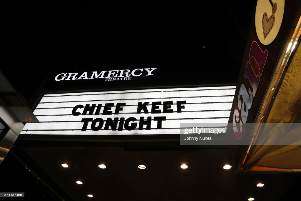 A view of the marquee at Gramercy Theatre on November 13, 2017 in New York City.