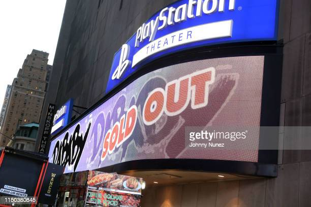 A view of the marquee at PlayStation Theater on June 16 2019 in New York City