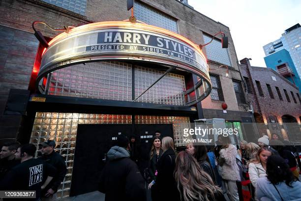 A view of the marquee outside before Harry Styles performs for SiriusXM and Pandora in New York City at Music Hall of Williamsburg on February 28 2020