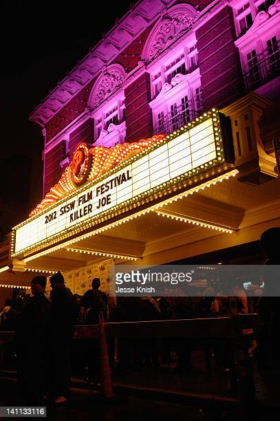 A view of the marquee outside the Killer Joe QA during the 2012 SXSW Music Film Interactive Festival at Paramount Theater on March 10 2012 in Austin...