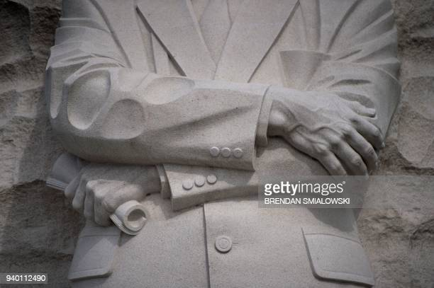 A view of the Martin Luther King Jr Memorial on the National Mall in Washington DC March 30 2018 April 4th 2018 marks the 50th anniversary of the...