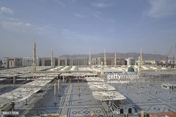 A view of the Masjid alNabawi where the tomb of Prophet Mohammad is located in Medina Saudi Arabia on September 28 while the Muslim pilgrims visiting...