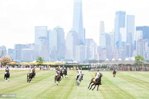 View of the match during the 11th annual Veuve Clicquot Polo Classic at Liberty State Park on June 2 2018 in Jersey City New Jersey