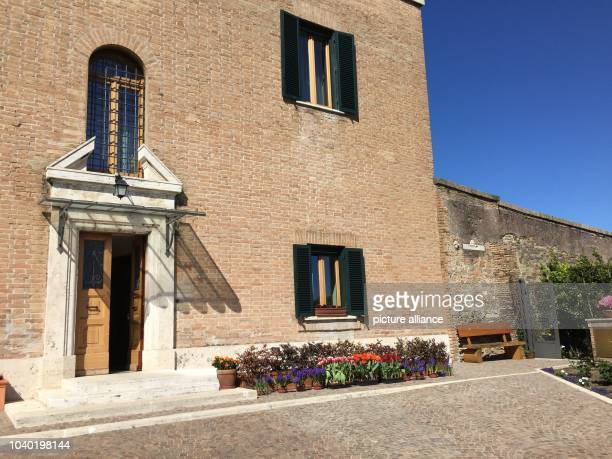 View of the Mater Ecclesiae Monastery inside the Vatican Gardens in Vatican City 17 April 2017 Pope Emeritus Benedict XVI has been residing at this...