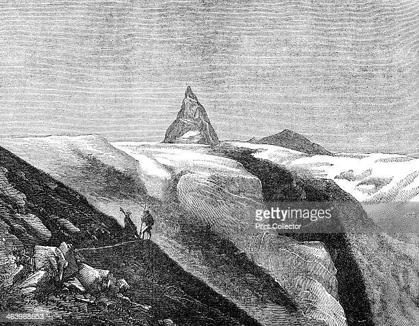 View of the Matterhorn late 19th century The Matterhorn was first climbed in 1865 by Edward Whymper Charles Hudson Lord Francis Douglas Douglas Hadow...