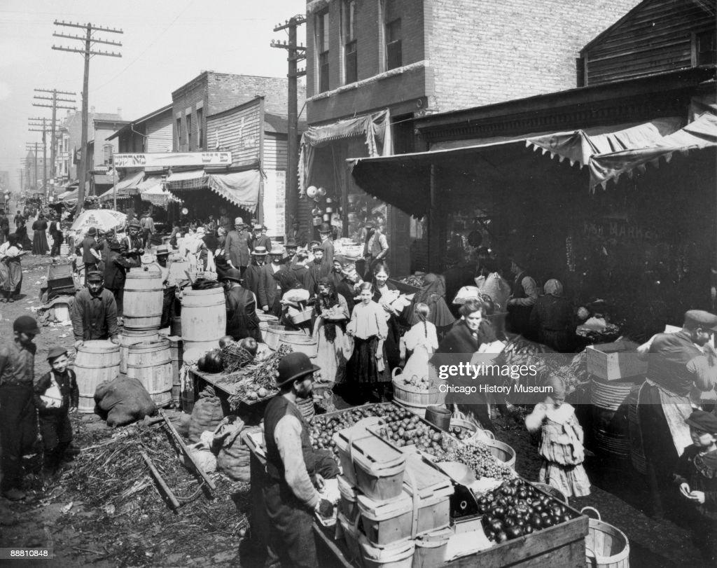 View Of Maxwell Street Market : News Photo