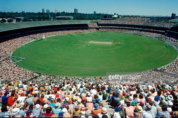 View of the MCG ground on the opening day Australia v West Indies 3rd Test Melbourne Dec 197576