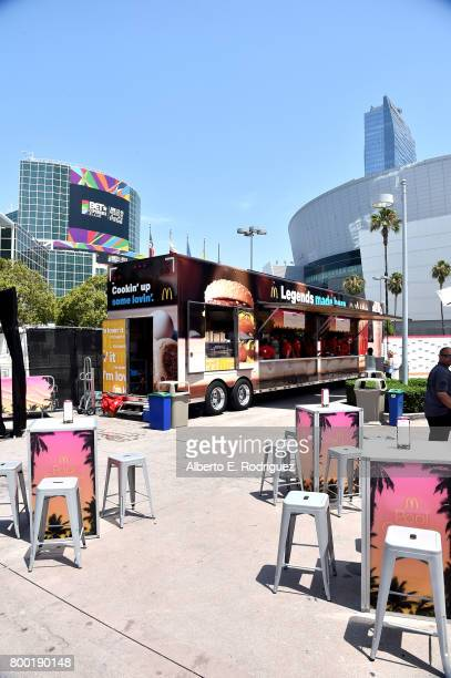 A view of the McRig at day one of the Pool Groove sponsored by McDonald's during the 2017 BET Experience at Gilbert Lindsey Plaza on June 23 2017 in...