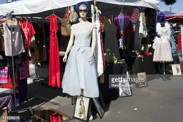 A view of the Melrose Trading post on April 17 2010 in Los Angeles California The sale is held every sunday in the parking lot of Fairfax High school...