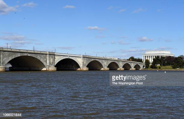 A view of the Memorial Bridge seen from Arlington VA March 2 2016 The bridge was built in the early 1930's and is threatened to be closed in a few...