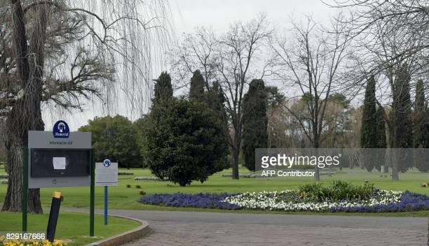 View of the Memorial park on August 10, 2017 in Pilar, Buenos Aires outskirts where Jorge Zorreguieta, father of Netherlands' Queen Maxima...