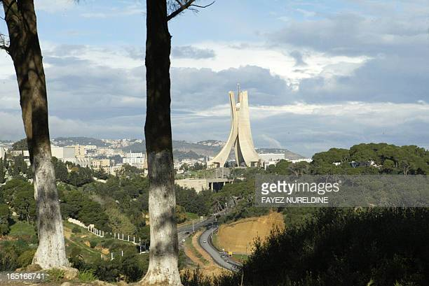 View of the memorrial of martyrs in Algiers City 13 December 2005. AFP PHOTO/FAYEZ NURELDINE