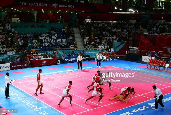 A view of the Men's Kabaddi Bronze Medal match between the ...