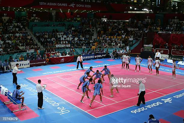 A view of the Men's Kabaddi Gold Medal match between India and Pakistan during the 15th Asian Games Doha 2006 at Aspire Hall on December 6 2006 in...