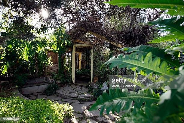 A view of the Mermaid house designed by John Greenlee garden designer at his rental house in Pomona From the yard at this rental house in Pomona...