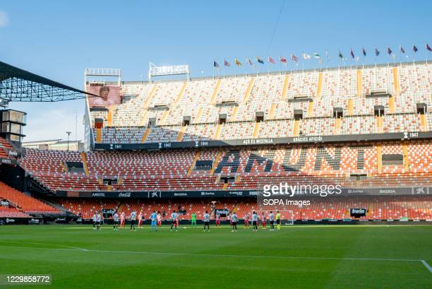View of the Mestalla Stadium during the Spanish La Liga football match between Valencia and Atletico de Madrid Final score Valencia 01 Atletico de...