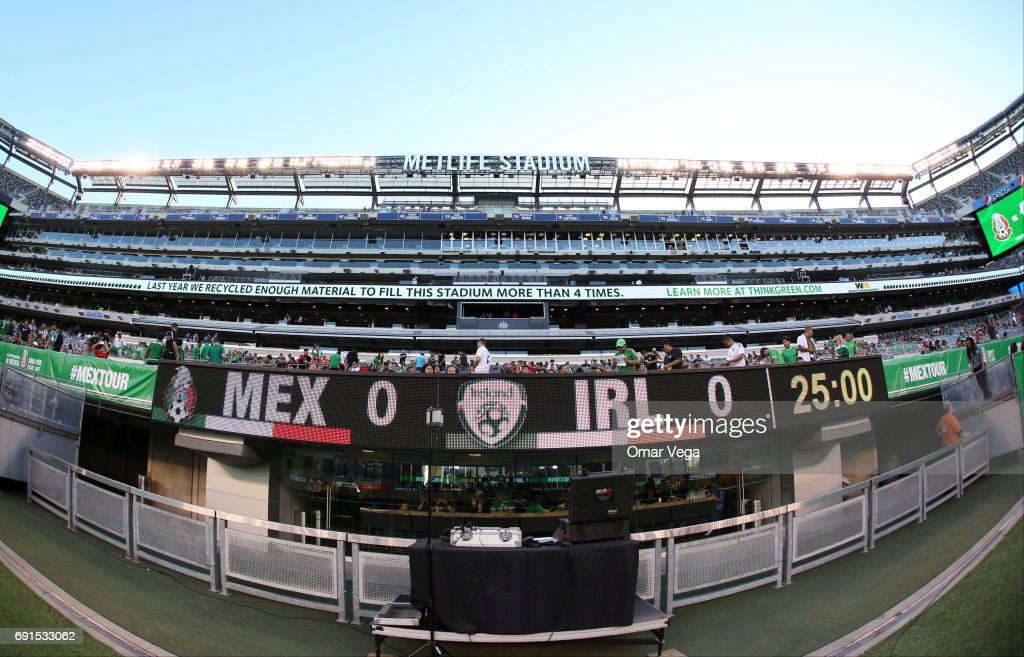 View of the MetLife Stadium prior to the friendly match between the Republic of Ireland and Mexico at MetLife Stadium on June 01, 2017 in East Rutherford, NJ.
