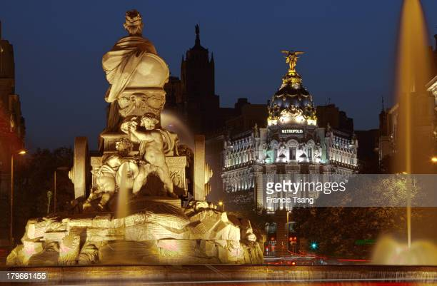 A view of the Metropolis building from the Cibeles fountain Madrid June 6 2013