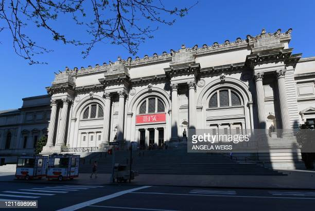 """View of the Metropolitan Museum of Art """"The Met"""" is seen on May 4, 2020 in New York City. - Historically, the first Monday in May has marked an..."""