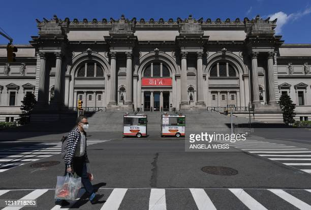 A view of the Metropolitan Museum of Art The Met is seen on May 4 2020 in New York City Historically the first Monday in May has marked an iconic...