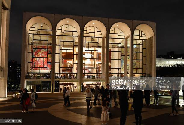 View of the Metropolitan Opera at Lincoln Center for the Performing Arts on October 5, 2018 in New York City. - The Metropolitan Opera is digging...