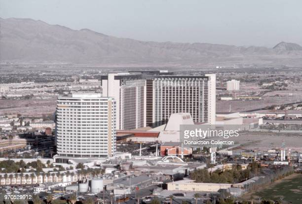 View of the MGM Grand on the Las Vegas Strip in November 1975 in Las Vegas, Nevada.
