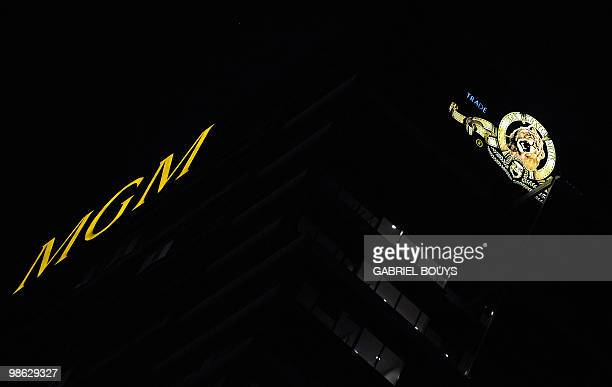 View of the MGM tower in Los Angeles California on April 20 2010 Work on the latest James Bond movie has been suspended indefinitely because of...