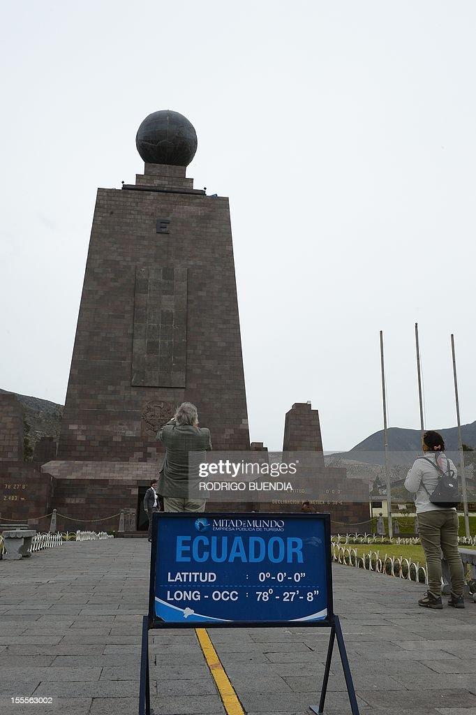 ECUADOR-ASTRONOMY-ARCHITECTURE-TRADITION : News Photo