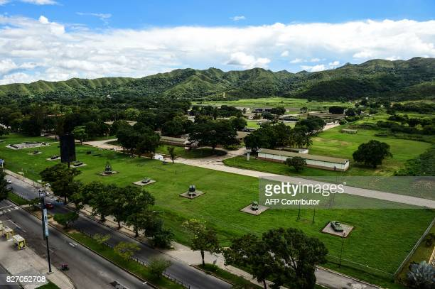 View of the military base of Paramacay Fort in Venezuela's third city Valencia on August 6 2017 Two assailants were killed and eight captured on...