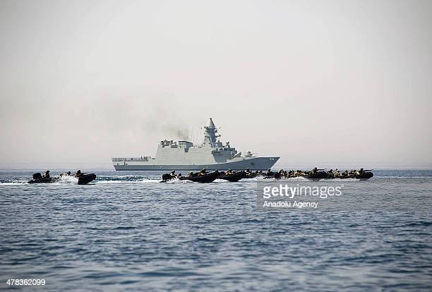 A view of the military force during the military exercise named 'Zayed 1' between the United Arab Emirates and Egyptian armed forces in Abu Dhabi on...