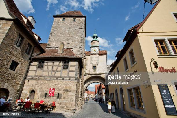 A view of the Milk Market and the Markus Tower is pictured at the old town of Rothenburg ob der Tauber Germany 12 July 2013 Photo Daniel Karmann |...