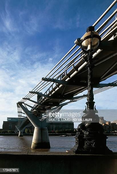 View of the Millenium Bridge , London, Greater London, England.