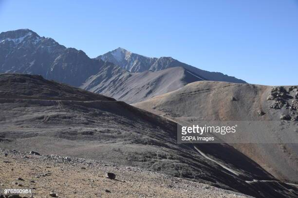 View of the mines from a distance. Over the past years the government embargoed what it deems to be illegally mined lapis lazuli in the district of...