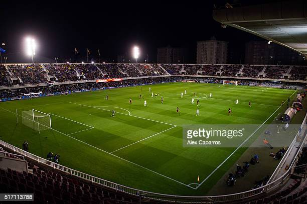 A view of the Miniestadi during the UEFA Women's Champions League Quarter Final first leg match between FC Barcelona and Paris SaintGermain at...