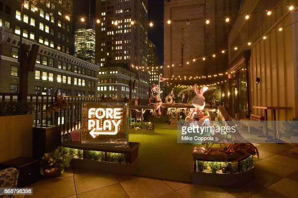 A view of the minigolf course during Heidi Klum's 18th Annual Halloween Party presented by Party City and SVEDKA Vodka at Magic Hour Rooftop Bar...
