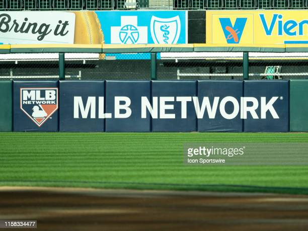 A view of the MLB Network logo before the MLB regular season game between the Minnesota Twins at the Chicago White Sox on July 25 at Guaranteed Rate...