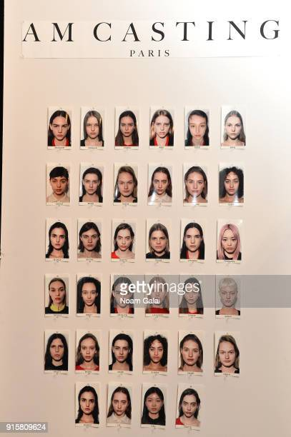 A view of the model board backstage for Noon By Noor during New York Fashion Week The Shows at Gallery II at Spring Studios on February 8 2018 in New...