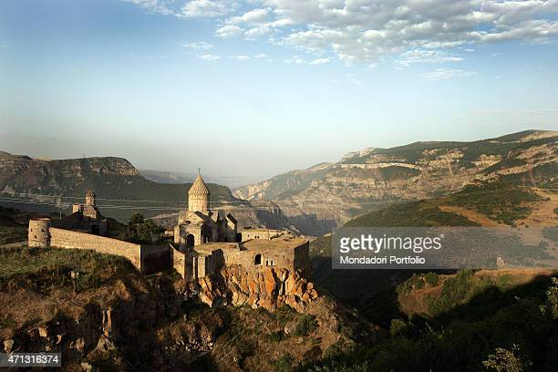 View of the monastery of Dadivank, literally the monastery on the hill, built between 9th and 13th century in Armenian style. Nagorno Karabakh,...