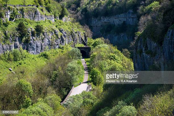 View of the Monsal trail in Cheedale, Derbyshire