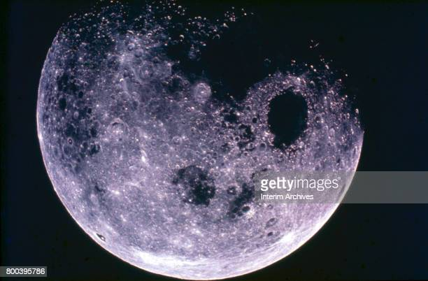 View of the Moon taken during NASA's Apollo 8 mission December 1968 Among the visible features is Mare Cristium the dark near circular shape at...