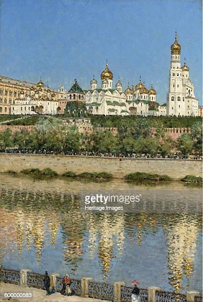 View of the Moscow Kremlin Private Collection Artist Vereshchagin Vasili Vasilyevich