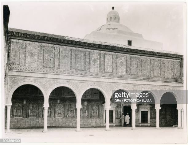 View of the Mosque of Uqba or Great Mosque of Kairouan Kairouan Tunisia ca 1920