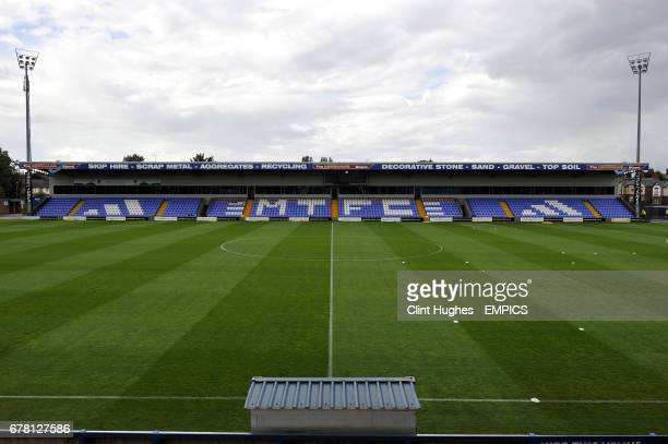 A view of the Moss Rose ground home to Macclesfield Town