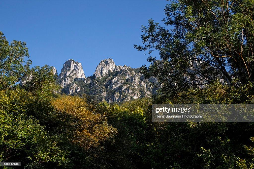 View of the Mountain Denti della Vecchia : Stock-Foto