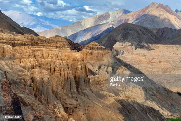 View of the mountainous landscape of the Himalayas,Jammu and Kashmir, Ladakh Region, Tibet,India